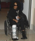 Diana Ross Healing After Breaking Ankle during Show in India