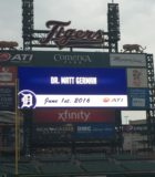 Podiatric Surgeon, Dr. German Visits Comerica Park