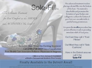 soleFill pain relief for your feet
