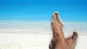beach summer foot tips